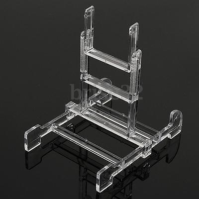 "Clear Adjustable 3""-5"" Easel Display Stand Plate Bowl Photo Frame Book Artwor"