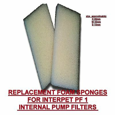 REPLACEMENT FOAM SPONGE INTERPET PF1 INTERNAL PUMP FILTER FISH TANK Filter media