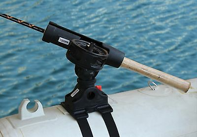 Brocraft Float Tube or Pontoon Boat Rod Holder / Float Tubes Fly rod holder