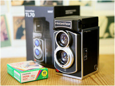 MiNT TL70 InstantFlex Twin-Lens Instant Camera use Fujifilm instax mini film