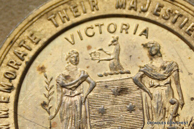 1911 Coronation  Bronze Medal George V Stokes Victoria Nice Variation #fabb4