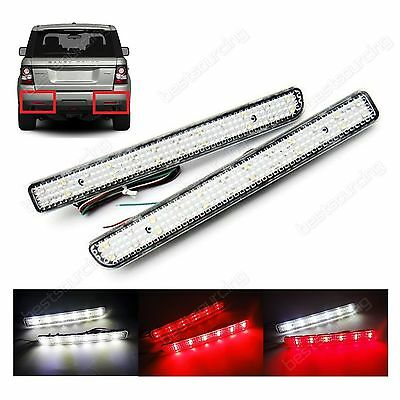 LED CLear Lens Rear Bumper Reflector Tail Stop Fog Light Range Rover Sport 10-13