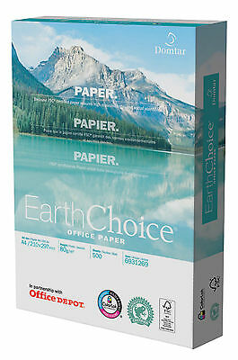 Office Depot Earth Choice White FSC Paper A4 80 gsm 5 reams 2500 Sheets Box