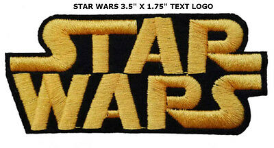 Starwars Star Wars Logo Embroidery Iron On Patch Badge #yellow Us Seller