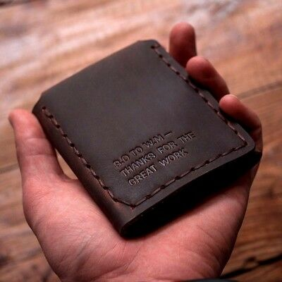 The Secret Life Of Walter Mitty Vintage Handmade Natural Cowhide Leather Wallet