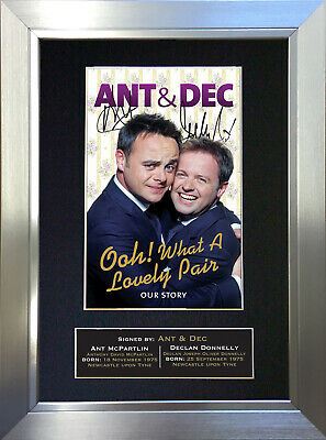 ANT AND DEC Signed Autograph Mounted Reproduction Photo A4 Print 16