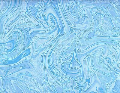 Marble Tone on Tone Quilting Fabric, Marblecious Blue, Remnant #290-5