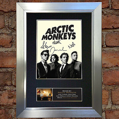 ARCTIC MONKEYS Signed Autograph Mounted Quality Photo Reproduction A4 Print 186