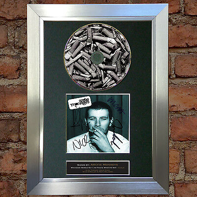 ARCTIC MONKEYS (RARE) Signed Autograph CD & Cover Mounted Re-Print A4 50