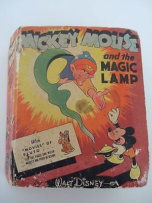Vintage Mickey Mouse and the Magic Lamp  Walt Disney Better Little Book