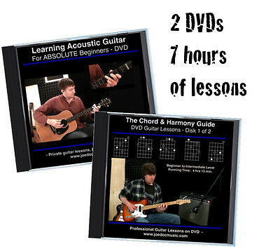 Learn to Play Guitar 2 DVD Set *Complete Beginner Lessons* Chords Rhythm Theory
