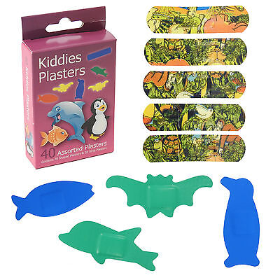 Twin Pack 40 Sea Life Coloured Shaped Childrens Water Resistant CMS Plasters