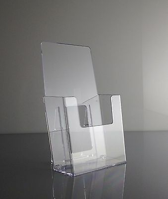 """2 pack Acrylic Literature Brochure Holder for 4x9"""" lucite- USA FREE SHIPPING"""