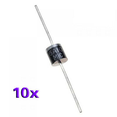 10 x R-6 1000V 6A axiale Gleichrichter Diode GY