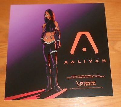 Aaliyah Poster 2-Sided Flat Square 2001 Promo 12x12