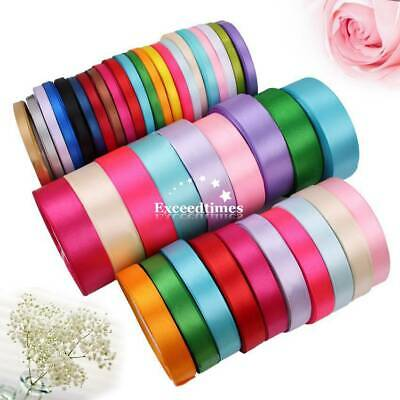 2 Rolls X 25Yds 6mm Single Sided Satin Ribbon Apparel Sewing Crafts Decorations