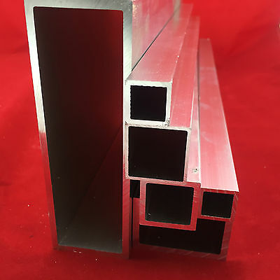 Aluminium Square Rectangular Tube Box Section size 12mm x 8mm to 50mm x 50mm