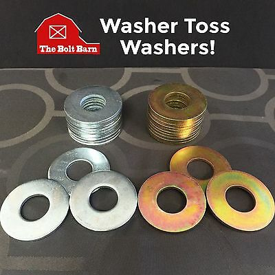 """REPLACEMENT WASHERS 2.5 /"""" SET OF 24 Silver /& Yellow WASHER TOSS GAME 24"""