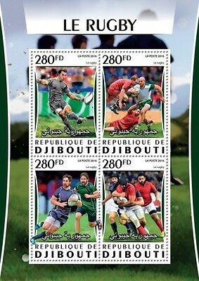 Z08 IMPERFORATED DJB16317a DJIBOUTI 2016 Rugby MNH