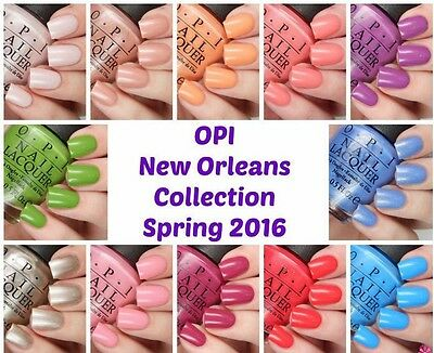 OPI Spring Summer '16 ~NEW ORLEANS~ Nail Polish Lacquer .5oz **PICK COLOR** New!
