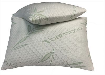 2x New Luxury Bamboo Memory Foam Pillow, Anti-Bacterial Premium Support Pillow