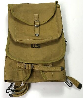 Wwi Wwii Us M1910 Infantry Haversack & Meat Can Carry Pouch-Od#3