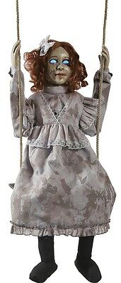 Swinging Decrepit Dessie Doll Animated Prop HALLOWEEN Possessed Victorian Doll