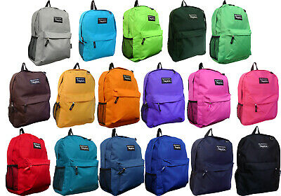 """New""  Solid Color School Backpack / Travel Backpack / Hiking Bag / Book Bag"