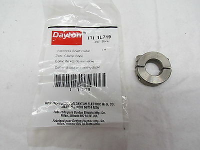 "Dayton Stainless Steel Shaft Collar 1L719  3/4"" Bore Dia."