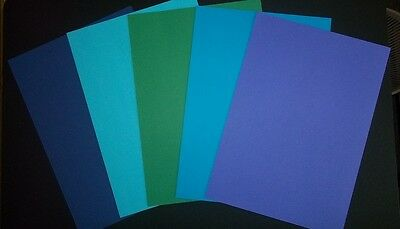 A4 COLOURED PAPER x 20  -  5 BEAUTIFUL COLOURS - Cardmaking/Scrapbooking