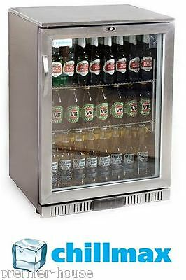CLEARANCE - Beer Wine Fridge 1 door Glass FULL SS 128L Under Counter, WA ONLY