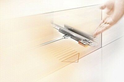 Blum Movento Full extension Underfloor rails Tip-On 60 kg with Couplings 450-750