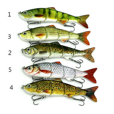 New 16.8g Multi Jointed Minnow Crank baits Hook Bass Sinking Tackle Lures 12cm