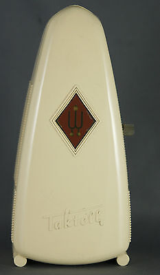 Vintage Wittner Taktell Piccolo Metronome West Germany Working Cream Case
