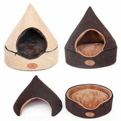 New Luxury Warm Indoor Pet Dog Cat House Beds Tent Roof Removable Kennel S,M,L
