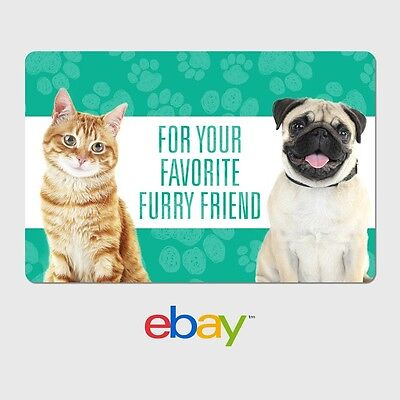eBay Digital Gift Card - Pet Designs - Email Delivery