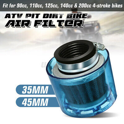 35mm ATV Dirt Bike Splashproof Air Filter Cleaner 50cc 110cc 125cc + Cover New