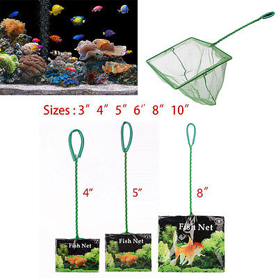 "H-Quality For Aquarium Fish Tank Tropical Cold Water Fish Net 3"" 4"" 5"" 6"" 8"" 10"""