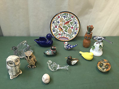 Lot Of 15 Birds - Ducks Owls In Many Forms - For ' Happy Chic ' Collectors - Vr