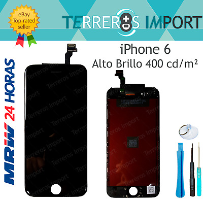 "Pantalla iPhone 6 Completa Display LCD 4.7"" Negro Negra Frontal Completo"