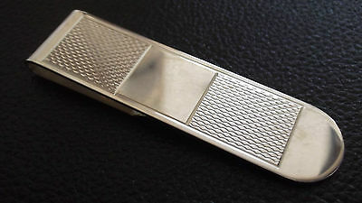 New Stunning Sterling Silver money clip Patterned Hallmarked, Christmas Gift