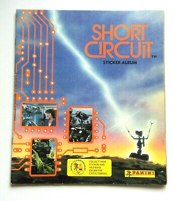 Short Circuit Rare Panini Sticker Album Book From The 1980's