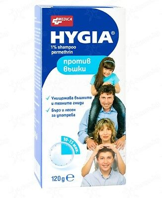 Hygia SHAMPOO 120 ml.intended for treatment & prophylaxis of head & pubic lice