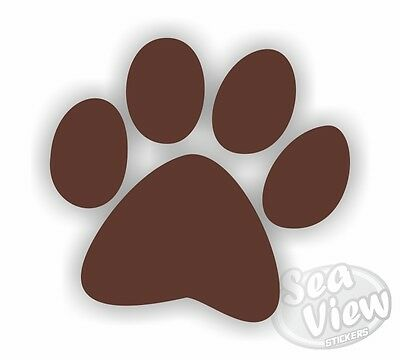 18 Large Dog Paw Print Car Wall Bedroom Nursery Stickers