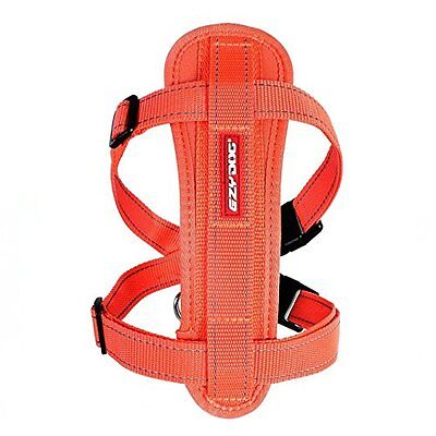 Ezydog Chest Plate Dog Harness - Orange Large - Supplied With Car Seat Belt Loop