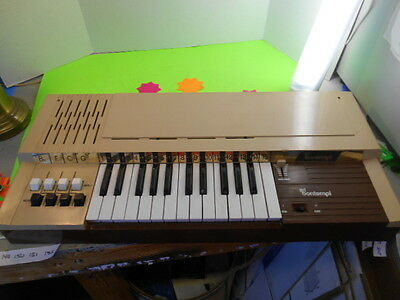 Rare Vintage Bontempi 8 Electric Chord Organ Keyboard Retro Italy - 4 Keys Stick