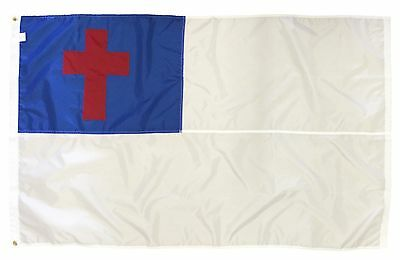 Christian 3' x 5' Sewn Nylon Flag with Grommets Made in the USA Free Shipping