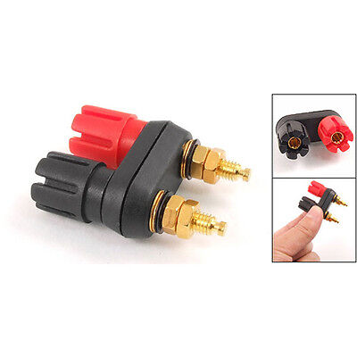 Dual Female Banana Plug Terminal Binding Post for Speaker Amplifier FlyP