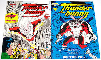 THUNDER BUNNY #1,2 (VF/NM) Colleen Doran! Richard Pini! Warp Graphics 1985