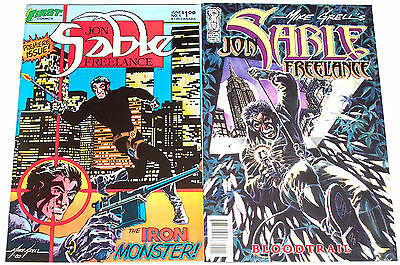 John Sable Freelance (1983) #1 (Nm-) + John Sable Freelance Bloodtrail (2004) #1